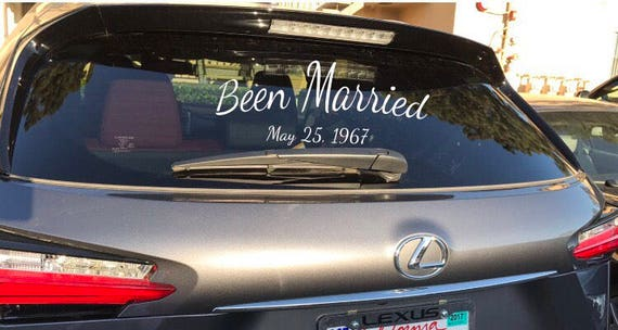 Been Married Car Decal Custom Made Glass Decal Custom Made - Car window decals custom made