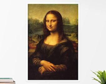 "Leonardo Da Vinci, ""Mona Lisa"". Art poster, art print, rolled canvas, art canvas, wall art, wall decor"