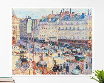 "Camille Pissarro, ""Place du Havre, Paris"". Art poster, art print, rolled canvas, art canvas, wall art, wall decor"