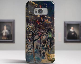 "Konstantin Korovin, ""Boulevard Montmartre by Night"". Samsung Galaxy S8 Plus Case LG V30 case Google Pixel Case Galaxy A5 2017 Case and more."