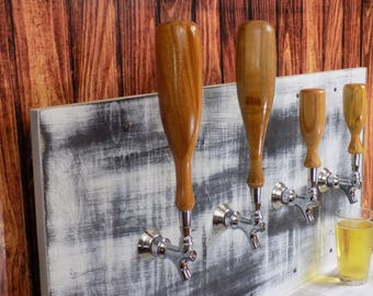 "Large Solid African Mahogany 12"" Keg Tap Handle Beer Tap Handle"