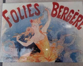Folies Bergere Storage Box Keepsake Box Vintage Jewelry Box