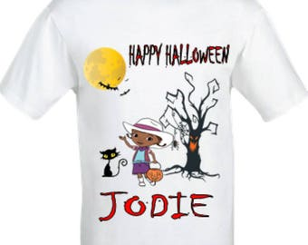 Doc mcstuffins Halloween shirt,Halloween shirt,girl's halloween shirt,Doc mcstuffin girl's shirt,custom halloween shirt,personalised girl's