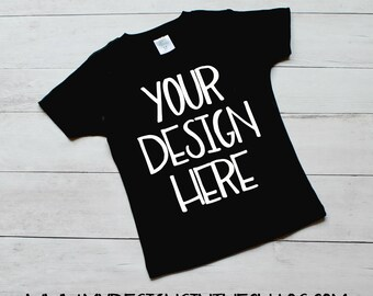 Black Tshirt Mock Up / Simple Tshirt Mock Up / No Props Mock Up / Mock Up / Boy Mock Up / Boy Black Shirt Mock Up