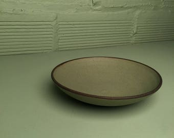 Small Shallow Bowl in Lush Green Glaze