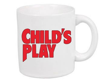 Childs Play Chucky Horror Mug Coffee Cup Gift Halloween Home Decor Kitchen Bar Gift for Her Him Merch Massacre