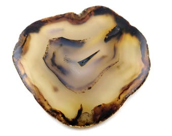 1 Piece Genuine Montana Agate Slice Uneven Gemstone~77x74mm~376Cts~Natural Agate Slice Pendant Gemstone*GS1528