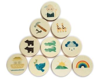noah's ark - story tellers | story stones