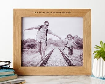Personalised Oak Photo Picture Frame