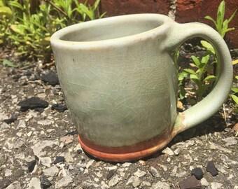 Hand thrown coffee mug