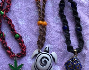 Handmade Hemp Necklaces