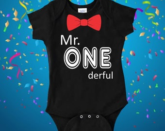 Mr Onederful, 1st Birthday Outfits First Birthday Gift, 1st birthday boy cake smash outfit one year old boy birthday gift mr onederful shirt