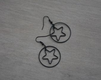 Earrings black stars