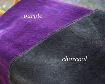 Hand Dyed Heavy Gauze, 36x36, Fiber Crafts,100% Cotton, Purple or Charcoal