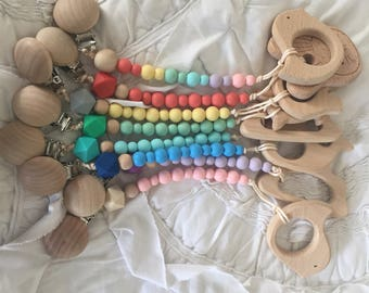 Custom Pacifier Clips and Teethers