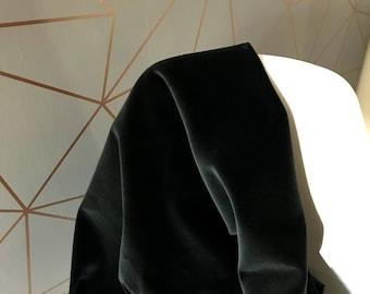 Black Velvet Fabric, Luxurious Black Velvet Fabric Sold By The Yard