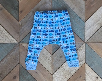 Fish Print Harem Pants {FREE SHIPPING}