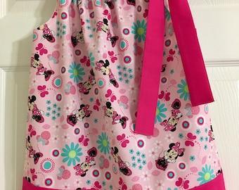 Girls Minnie Mouse Pillowcase Dress