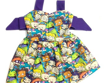 Rugrats, rugrats dress, dress, 90's, spring dress, baby girl clothes, birthday outfit, birthday outfit, spring outfit, photography prop