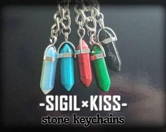 Stone Pendulum Keychains