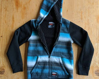 90s No Fear Fleece Lined Hoodie Sweatshirt Men's Women's Large