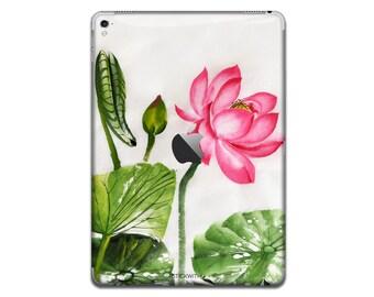 Water Lily iPad Skin Sticker painting iPad Case leafs iPad Decal art iPad Cover floral iPad Sticker flower iPad Air iPad Pro 9.7 12.9 IPA189