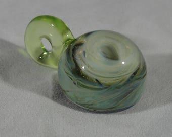Green Hurricane Glass Pendant