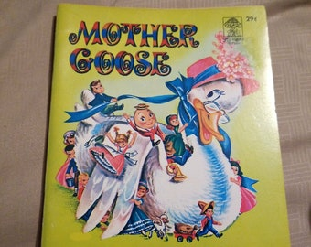 VTG 1961 Mother Goose Children's book