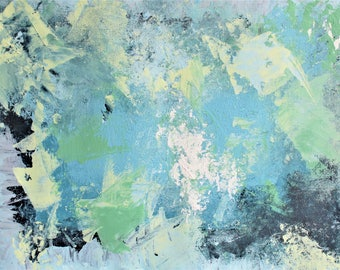 ORIGINAL---Icy Mystery---Abstract Acrylic Painting on Paper