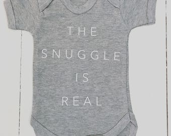 The snuggle is real baby grow vest
