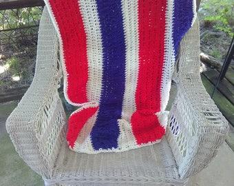 Americana Red, White & Blue Throw Blanket