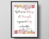Psalm 46:1 Printable Art,...