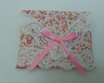 Gift voucher envelope, gift card pouch, floral wallet, fabric wallet