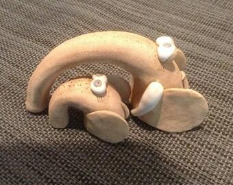 Clay elephants