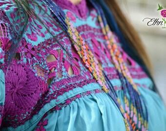 Oaxaca Mexican blouse / San Antonino /blusa embroidered hand /blusa boho blouse