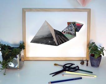 3D Geometric Collage Original Triangles