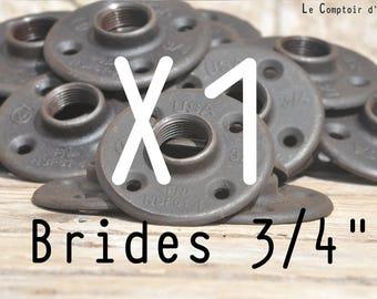 """Flange floor 3/4 """"(20 / 27mm), cast iron, fixing, plumbing, Floor Flange"""