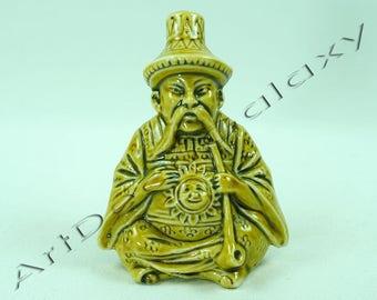 Antique German Porcelain Perfume Bottle Chinaman