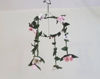 Felt Flower Mobile