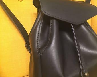 Backpack,womens backpack, elegant backpack,stylish backpack,italian leather backpack, black Italian leather