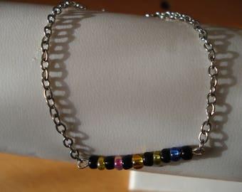 Pearl bracelet Rainbow seed beads