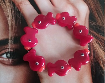 Handmade Small Glass Fish-Red