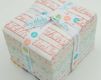 Bee Backgrounds Fat Quarter Bundle, 25 pieces, by Lori Holt for Riley Blake Designs