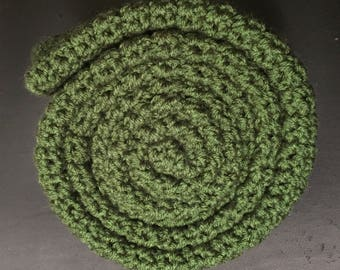 Crocheted Scarfed - Forest Green- Homemade