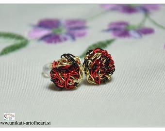 Crochet Earrings / Wire Earrings / Stud Earrings / Small Earrings / Gift for Women / Lightweight Earrings / Simple Earrings / Unique Earring