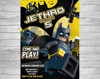 il_340x270.1227103090_spyv lego batman invitation lego batman birthday lego batman,Lego Batman Movie Invitations