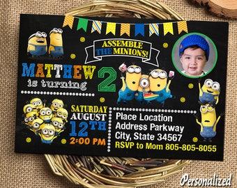 Minion Invitation,Minion Birthday,Minion Birthday Invitations,Minion Party,Minion Printable,Minion Invitations,Minion Birthday Card Minion