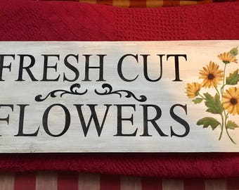 Fresh Cut Flowers Signs
