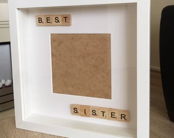 Best sister scrabble photo frame