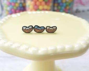 Handmade Nest Earrings